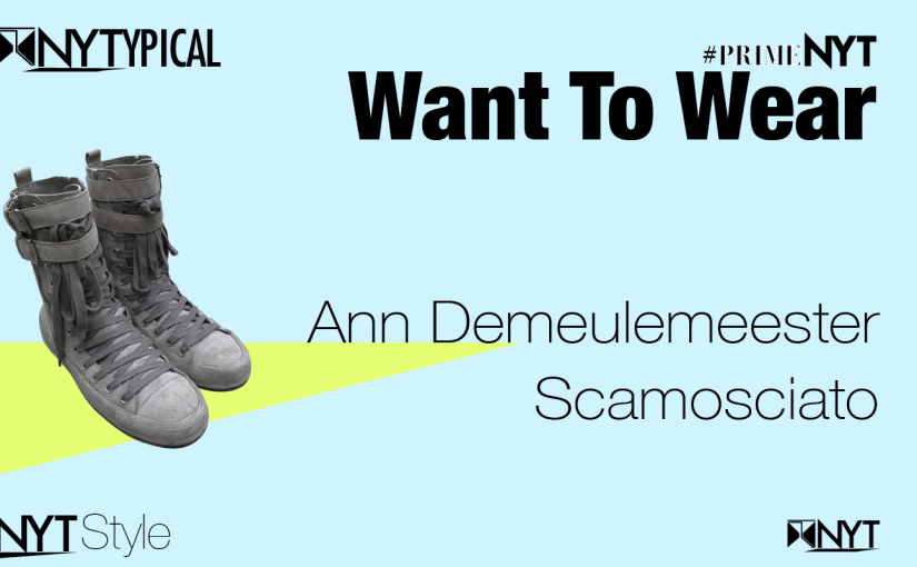 Want to Wear: Ann Demeulemeester— Scamosciato #PrimeNYT